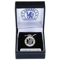 Chelsea Football Club Crest and Silver Chain