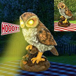 Light Up Hooting Garden Owl
