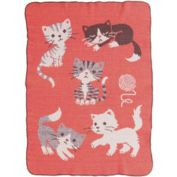 Kitty Baby Throw Blanket