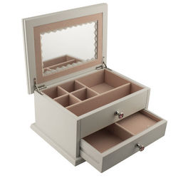 Personalized White Secret Princess Jewelry Box