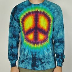 Long Sleeve Peace Tie-Dye Tee