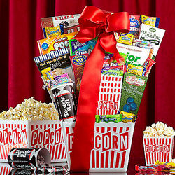 Candy and Popcorn Collection Gift Basket