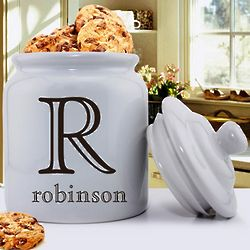 Personalized Family Initial Cookie Jar