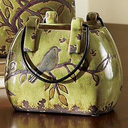 Small Ceramic Carey Bird Vase