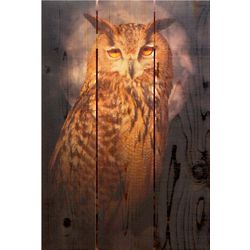 Handcrafted Owl Wooden Wall Art