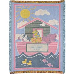 Personalized Noah's Ark Baby Blanket