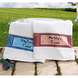 Personalized Dog Towel