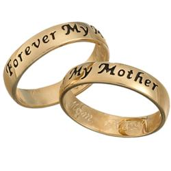 Mothers Sentiment Engraved Message Ring
