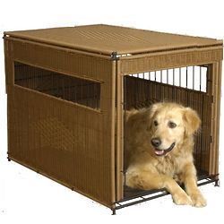Small Natural Wicker Pet Cage