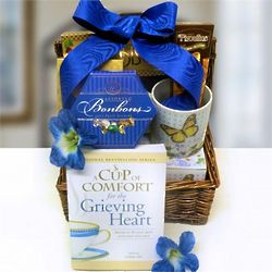 With Comfort Sympathy Gift Basket