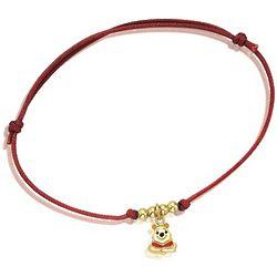 Disney's Winnie the Pooh Bracelet on a Silk Cord