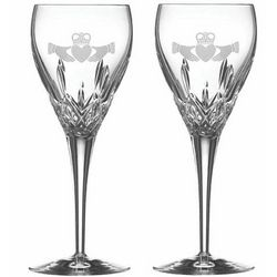 Crystal Claddagh Wine Glasses