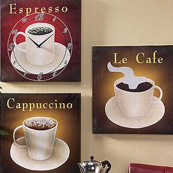 Coffee Clock Art Set