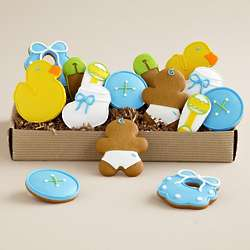 Welcome Baby Boy Cookie Assortment