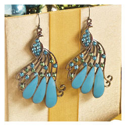 Peacock Earrings Per Pair