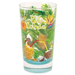 Handpainted Pina Colada Cocktail Glass