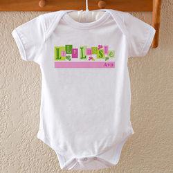 Baby's Irish Lad or Lass Personalized Shamrock Bodysuit