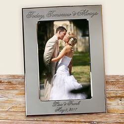 Personalized Today Tomorrow and Always Picture Frame