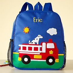 Personalized Kid's Fire Truck Backpack