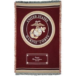 Personalized Marines Military Emblem Afghan