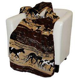 Microplush Horse Throw Blanket