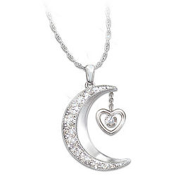Great-Grandchild's Love You to the Moon and Back Diamond Pendant