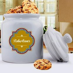 Personalized Family Name Cookie Jar
