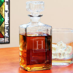 Personalized After-Hours Glass Decanter