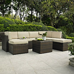 Palm Harbor 8 Piece Outdoor Wicker Seating Set