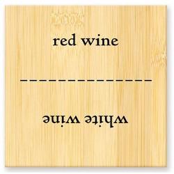 Red Wine / White Wine Flip Flop Sign