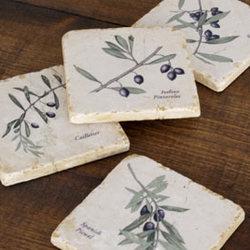 Olive Marble Coasters