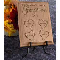 Personalized Happiness Is You Wooden Plaque