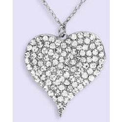 Bling Heart Necklace for Beads