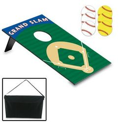 Baseball Field Bean Bag Toss with Carrying Case