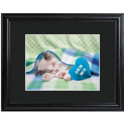 Personalized Kitty Love Framed Print