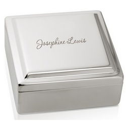 Personalized Silver Tinket Box