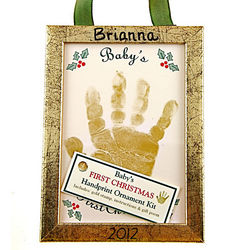 Personalized Baby Handprint Christmas Ornament