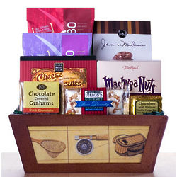 Anglers Snack Tray Gift Basket