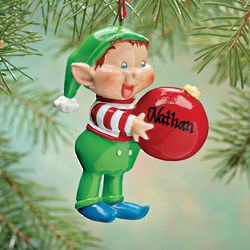 Personalized Happy Elf Ornament