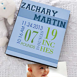 Baby's Big Day Personalized Deluxe Photo Album