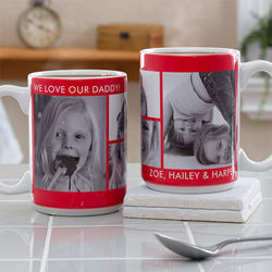 4 Custom Photos Large Coffee Mug