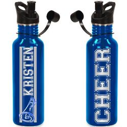 Personalized Cheerleading Water Bottle