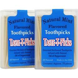 Taste-T-Picks Natural Mint Toothpicks