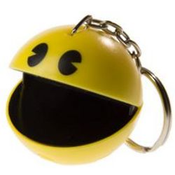 Pac-Man Keychain with Authentic Arcade Sounds