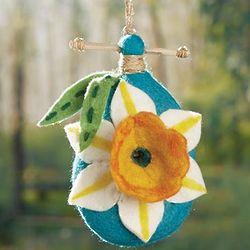 Hand-Felted Daffodil Birdhouse