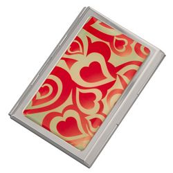 Personalized Heart Business Card Case