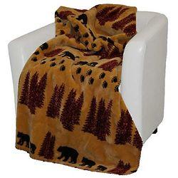 Microplush Bear Throw Blanket