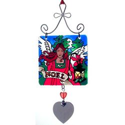 Personalized Noel Stained Glass Sun Catcher Ornament