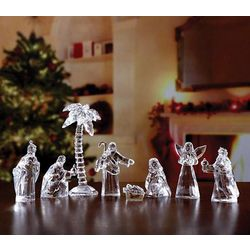 Crystal Acrylic Nativity