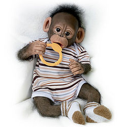 Baby Zeke Poseable Monkey Doll